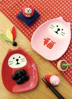 画像3: concombre まったりお正月 初春のおもてなし 福猫だるま箸置き